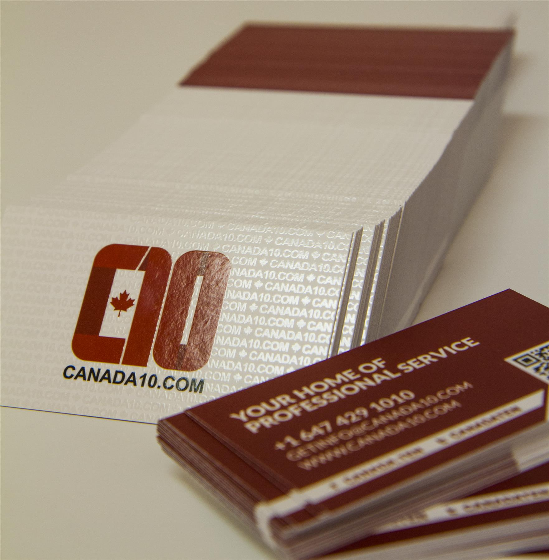 What is the shinny gloss print on business cards colourmoves